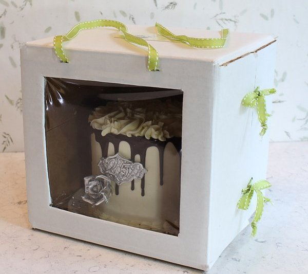 How to make custom cake box tutorial