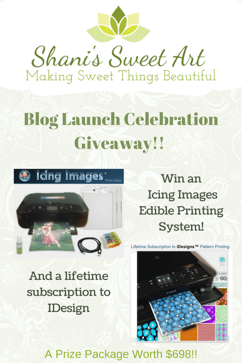 Win an Icing Images edible printing system in this epic blog launch celebration giveaway by Shani's Sweet Art