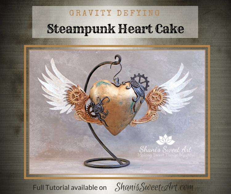 Steampunk heart cake