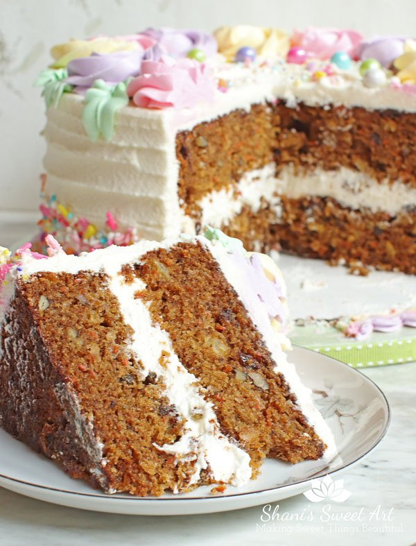 carrot cake recipe - rich, moist & flavorful