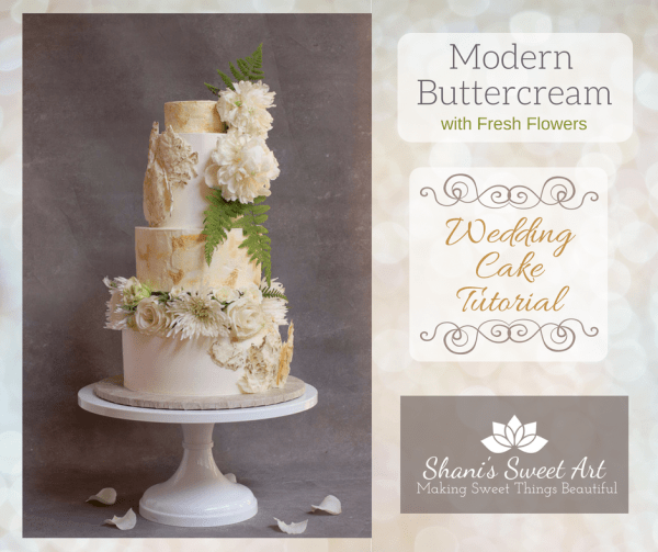 modern buttercream wedding cake tutorial