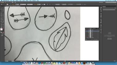 ScreenShot Of Progress On illustrator