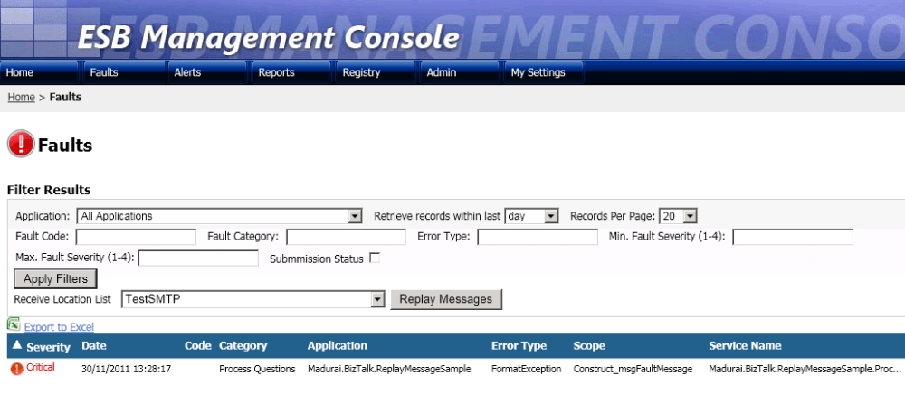 Replaying failed messages from BizTalk ESB portal Part 2 (3/6)