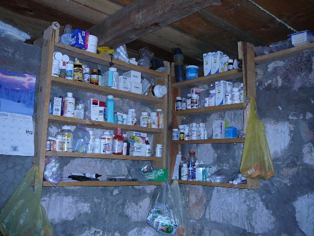 """The """"pharmacy"""" in our house in Santa Rita"""