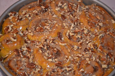 Sprinkle Chopped Pecans