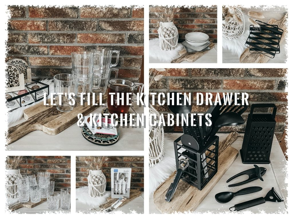 LET'S FILL THE KITCHEN DRAWER & KITCHEN CABINETS | MOVING OUT #2
