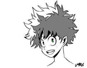 Izuku Midoriya the Character who Stands Out