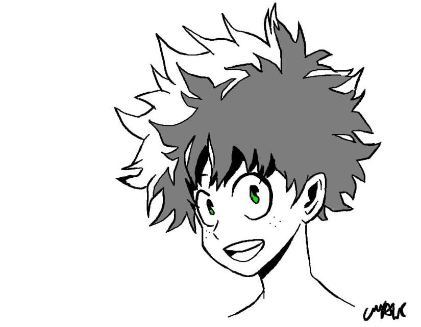 Deku Sketch - Izuku Midoriya the Character who Stands Out