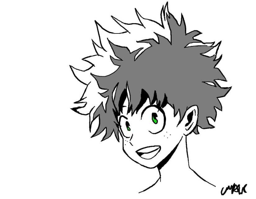 Deku Sketch - Izuku Midoriya the Character who Stands Out
