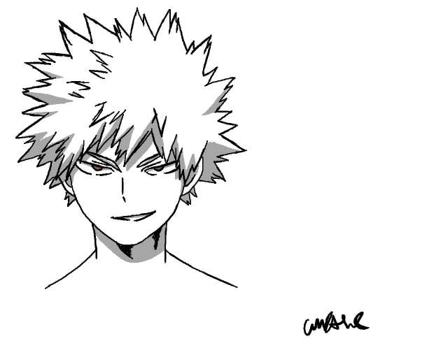 Bakugo Sketch - Izuku Midoriya: the Character that Stands Out