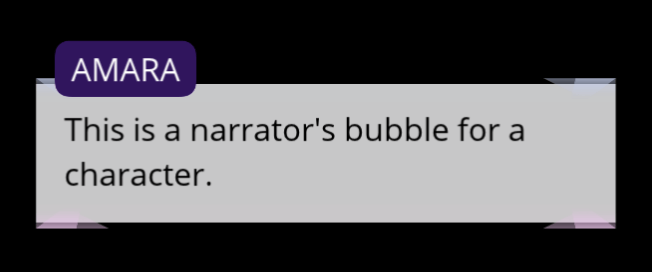 The Character Narrator's Bubble