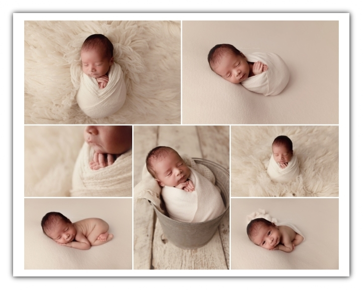 newborn baby boy session; cream and neutal colors