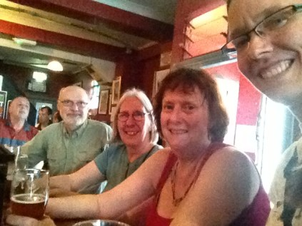 The Cobblestone with Dr. Nancy Stenson and friends.