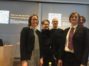 After the lecture at KTH, with two librarians and two architecture profs, including my former classmate from Virginia Tech, Eric Stenberg.