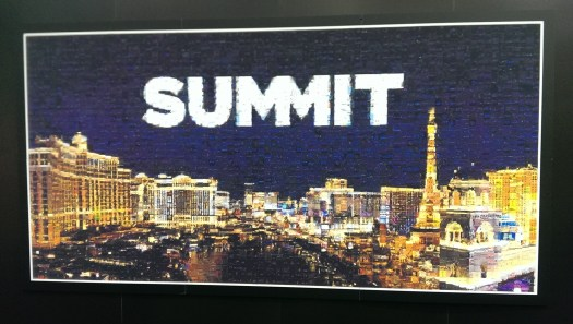 Summit | Mosaic photo wall filled in in real time from images Tweeted with #AdobeSummit2017