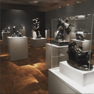 We also have Rodin on display, with an impressive number of bronze sculptures from France