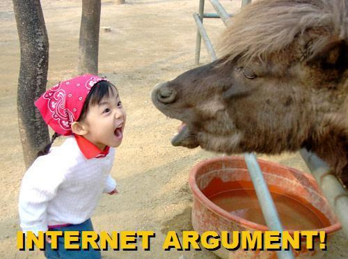 little girl yelling at cow