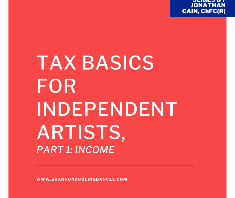 Tax Basics for Independent Artists, Part 1: Income