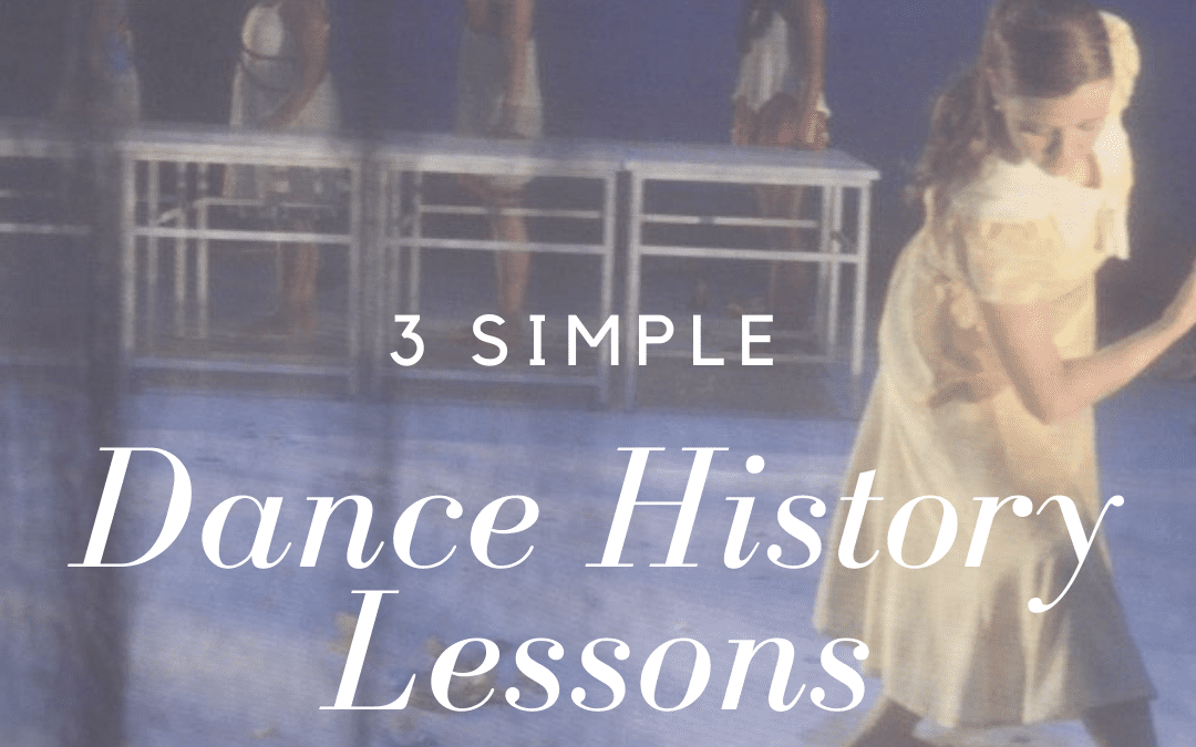 3 Simple Dance History Lessons for Online Classes