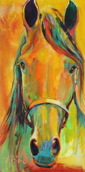 Curious 24 X 12 available through Gainsborough Galleries, Calgary, Alberta