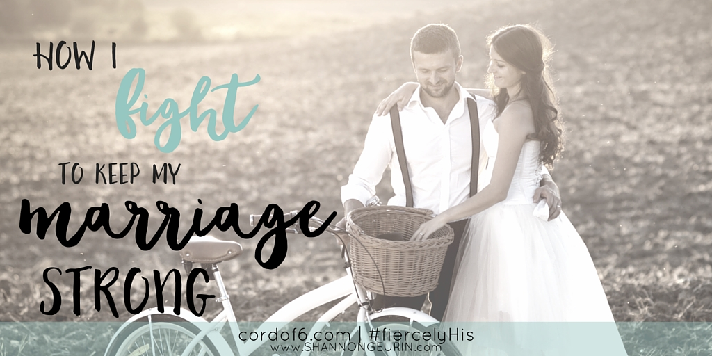In marriage when hard times come, you must ready to do battle. Battle for your marriage and battle for my faith. Here are ways to help you fight to keep your marriage strong!