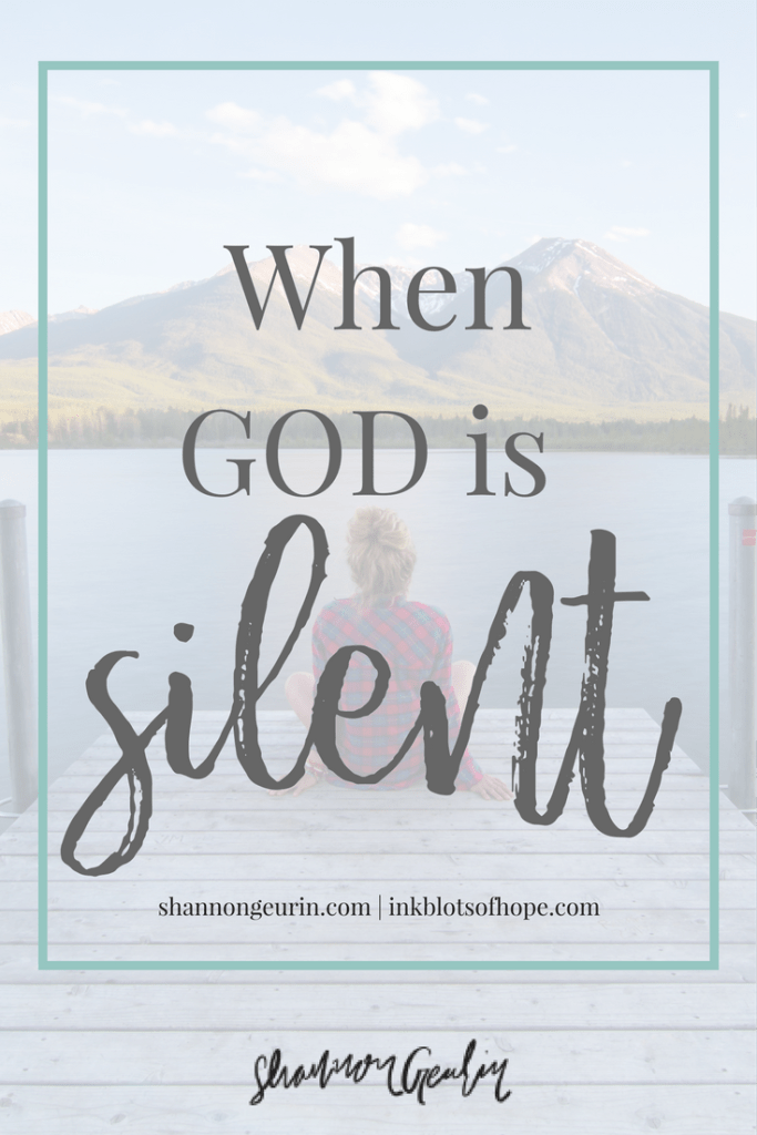 When God is silent, He is simply working on our behalf the most.