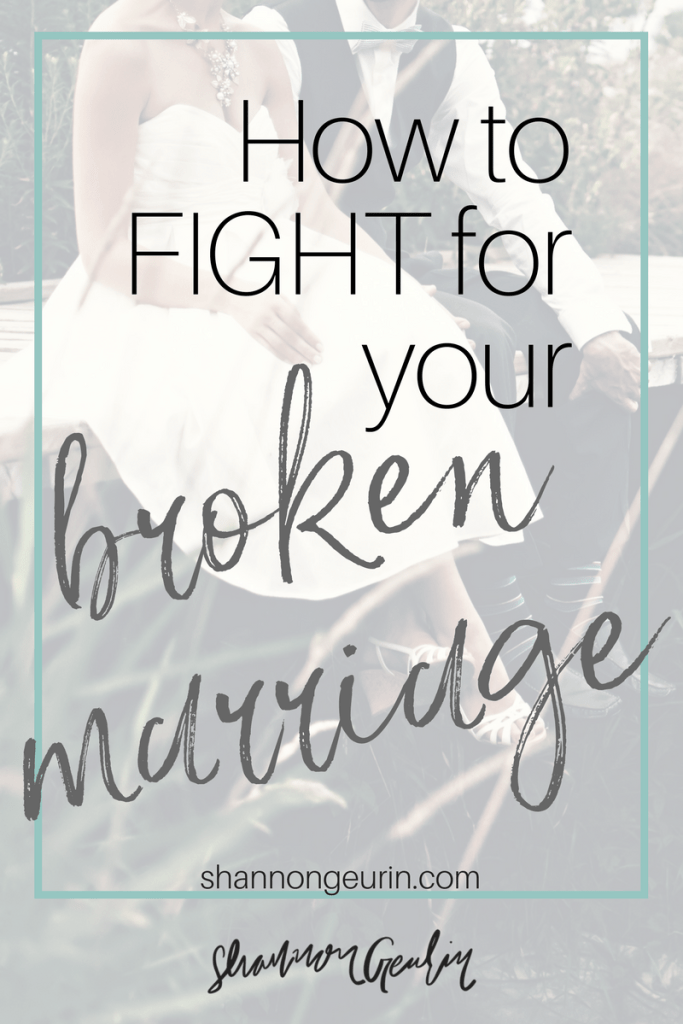Fix your broken marriage. Is your marriage broken? Is so broken that you think it's beyond repair? Here are 10 important steps that you can take to fix your broken marriage.
