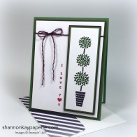 Stampin Up Vertical Greetings Card Ideas - Shannon Jaramillo Stampinup