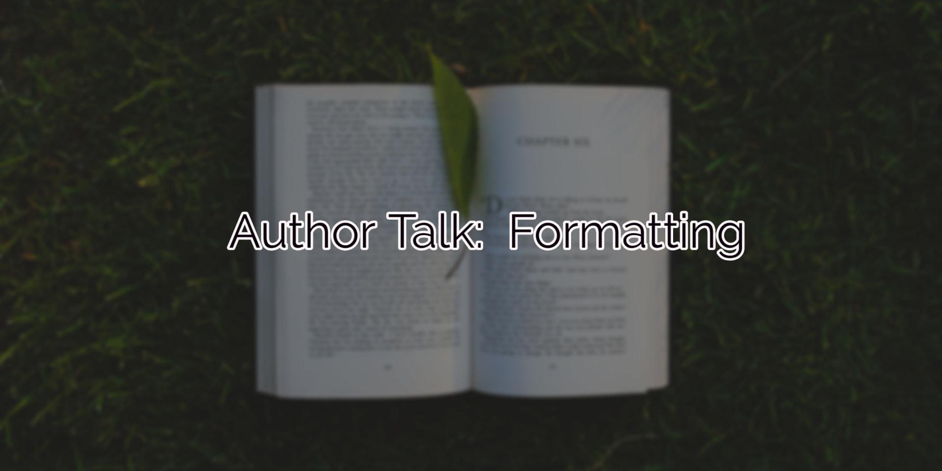 Author Talk:  Formatting