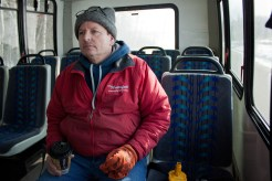 """When Bill's wife, DeAnn Millard, is at her Salon, A Cut Above in Farwell, Mich., he has to take the I-Ride, the Isabella County Transportation bus, to different Waterfall Car-washes or to get home. """"It's only two dollars so you can't really beat that, it is just embarrassing getting on the bus when someone I know is at the carwash,"""" said Bill."""