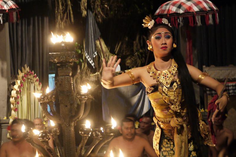 balinese cultural dancer in