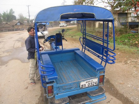Open air tuk-tuk
