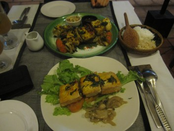 tofu steak dinners in Siem Reap
