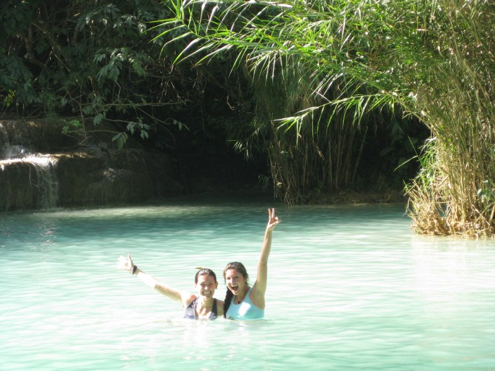 visiting kuang si and blue lagoon