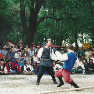 Chess Match at the 2001 Bay Area Renaissance Festival.