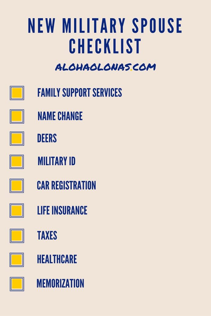 New Military Spouse Checklist