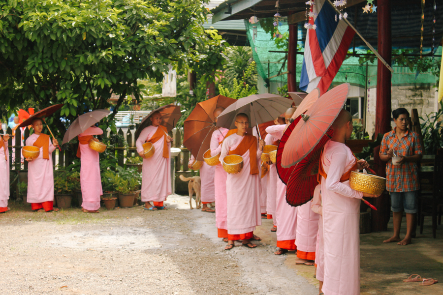 Female monks in Thailand.