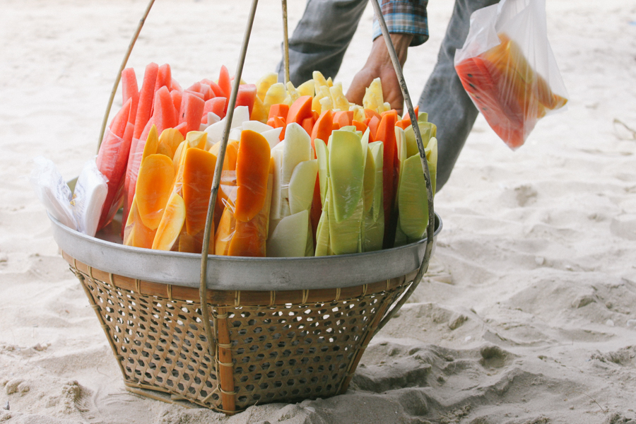 Thailand beach fruit basket.