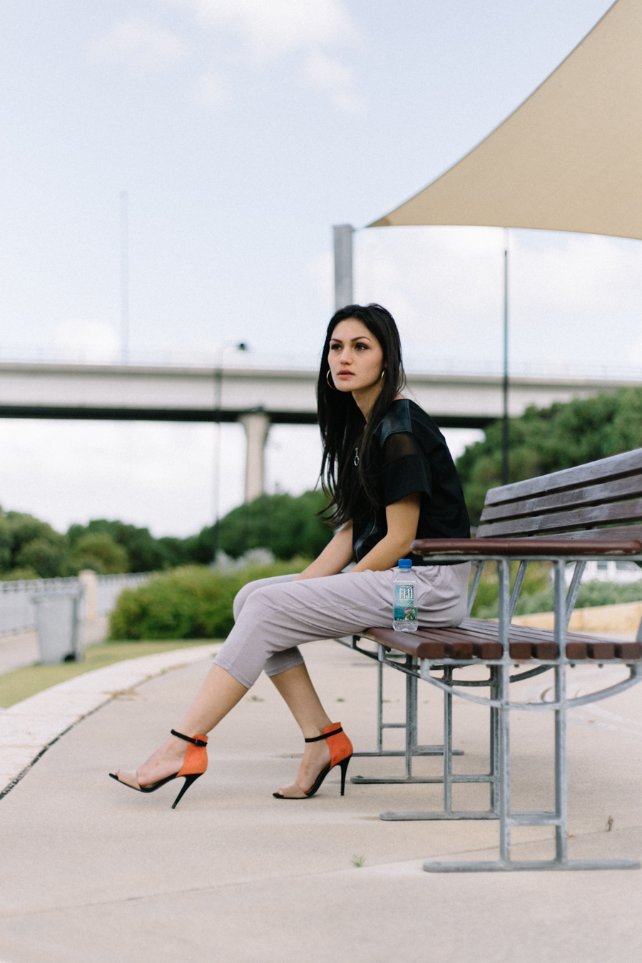 August Street Stella top. Sports luxe outfit.