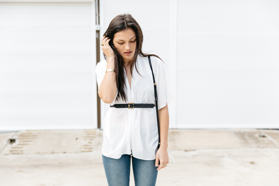 ASOS blogger collaboration: Match Yo Mama, minimalist street style. White wrap top.