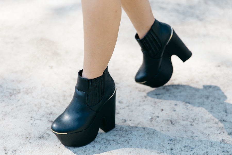 Black platform boots from Missguided.