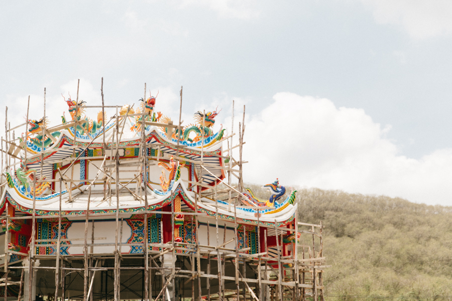 Pagoda being built in Thailand.