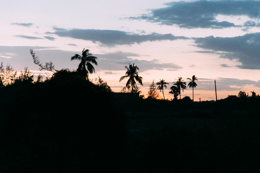 Tropical sunset silhouette in Thialand.