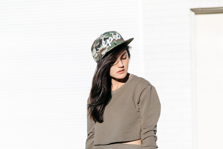 Camo Epic snapback hat from ZeroUV.