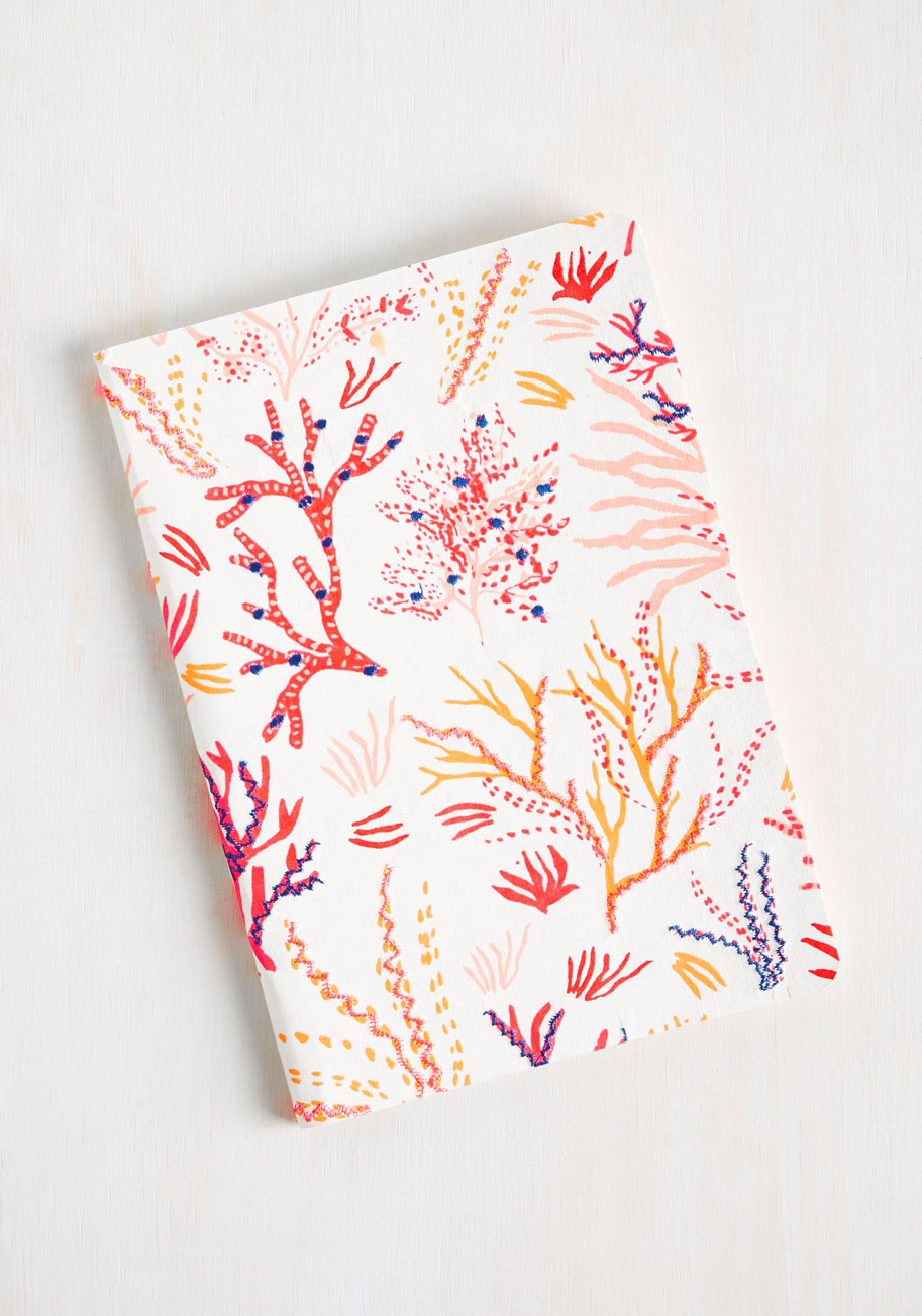 Reef print notebook.