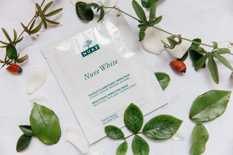 Nuxe White brightening perfecting mask.