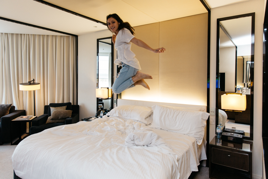 Luxe King room, Crown Resorts. Perth accomodation.