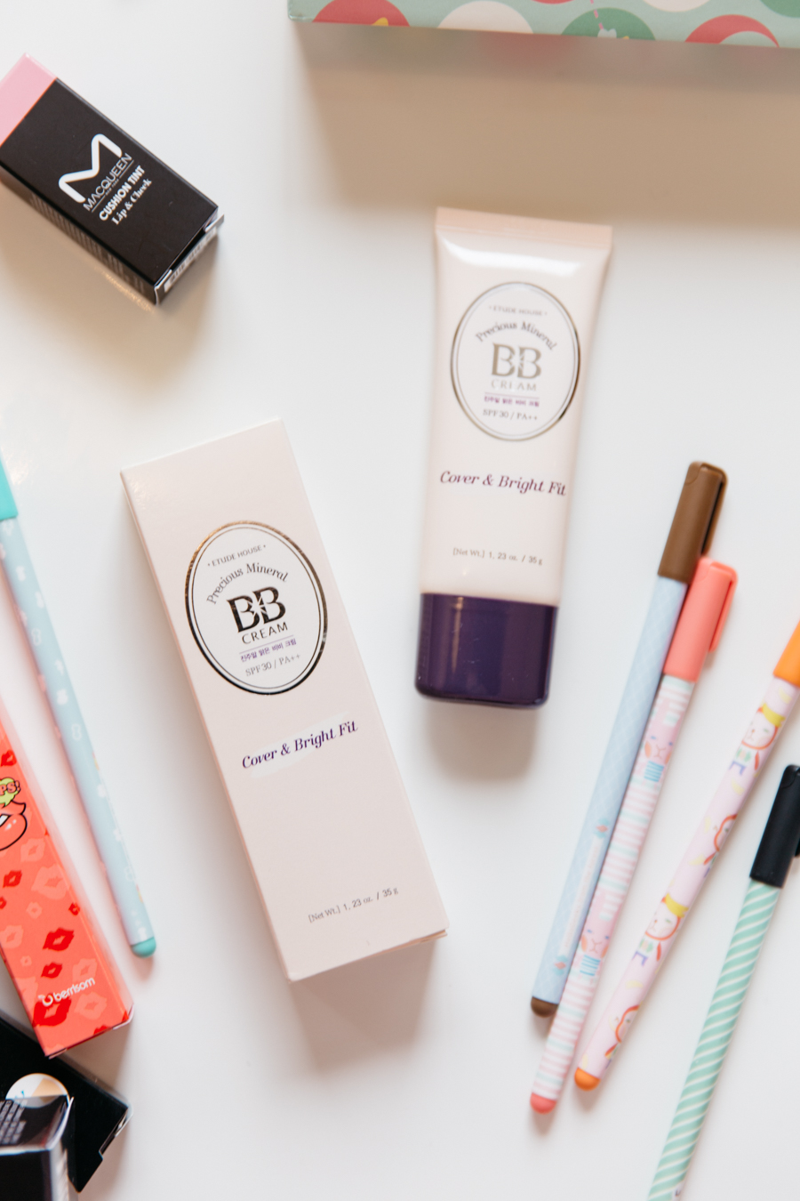 Etude House Cover & Bright Fit BB cream.