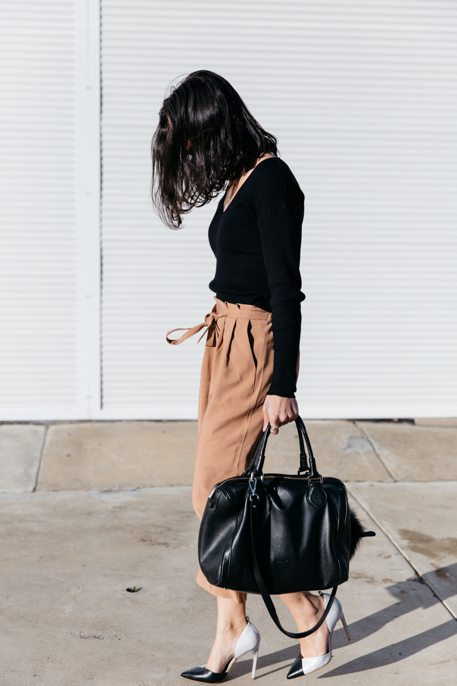 How to wear culottes.