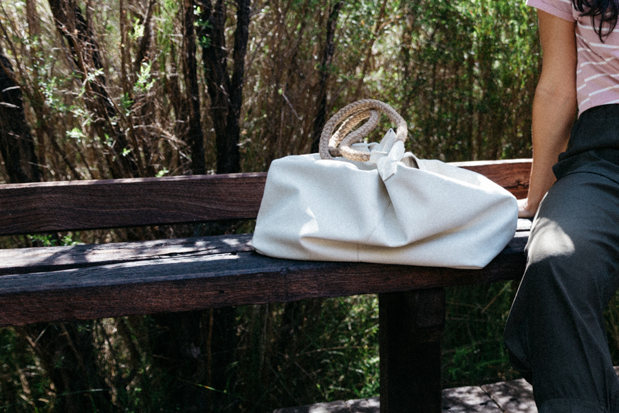 Morrison white leather bag.